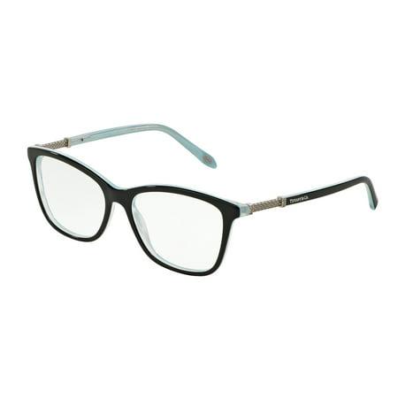 Tiffany Optical 0TF2116B Full Rim Square Womens Eyeglasses - Size 53 (Black/Striped Blue / Clear (Square Eyeglasses)
