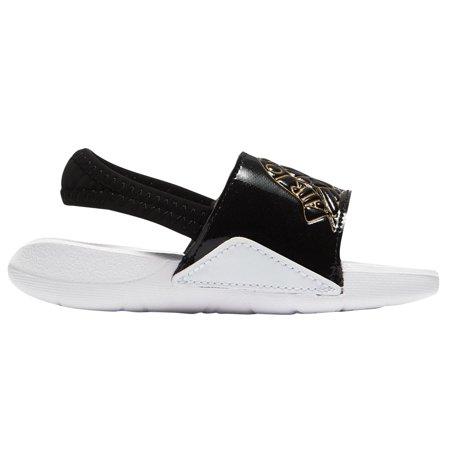 8297814603c768 Nike AA2519-021  Jordan Black Gold White Toddler Hydro 7 Sandals (7 M US  Toddler) - Walmart.com
