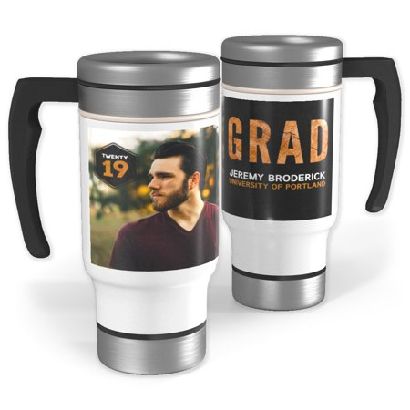 Stainless Steel Photo Travel Mug with Handle ()