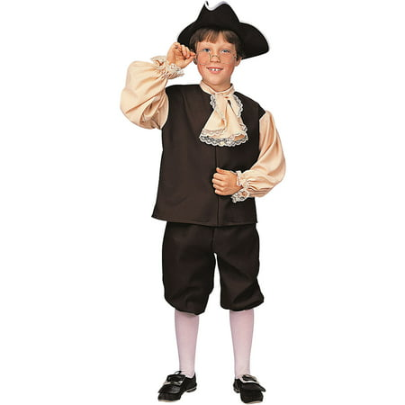 Colonial Boy's Child Halloween Costume (White Cat Ears Costume)
