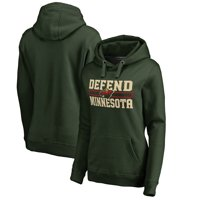 Minnesota Wild Fanatics Branded Women's Hometown Collection Defend Pullover Hoodie - Green