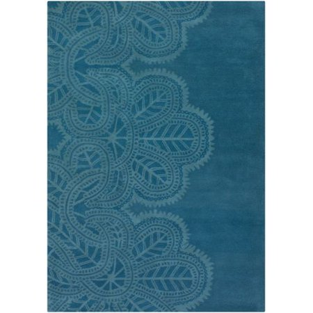 Chandra Rugs Taru 18701 Blue New Zealand Wool Shag Area Rug Hand Tufted in India