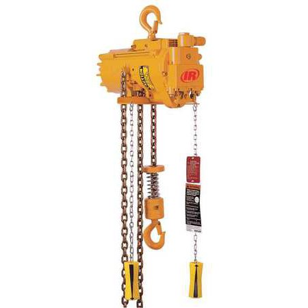INGERSOLL-RAND ML500KS-1C10-C6 Air Chain Hoist, 1100 lb. Cap., 10 ft. Lft