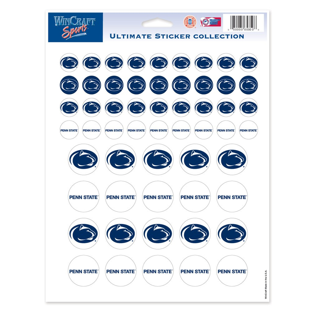 Penn State Nittany Lions Official NCAA 8.5 inch x 11 inch  Sticker Sheet by WinCraft