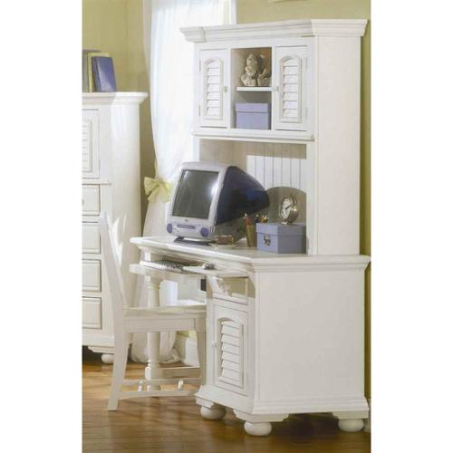 Cottage Traditions Computer Desk, Hutch & Chair in White Finish