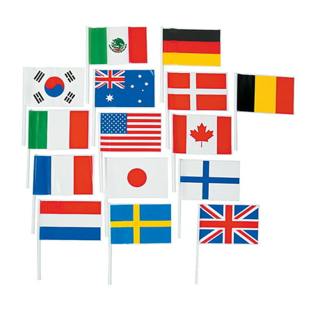 Flags Of All Nations (Small Plastic Flags of All Nations)
