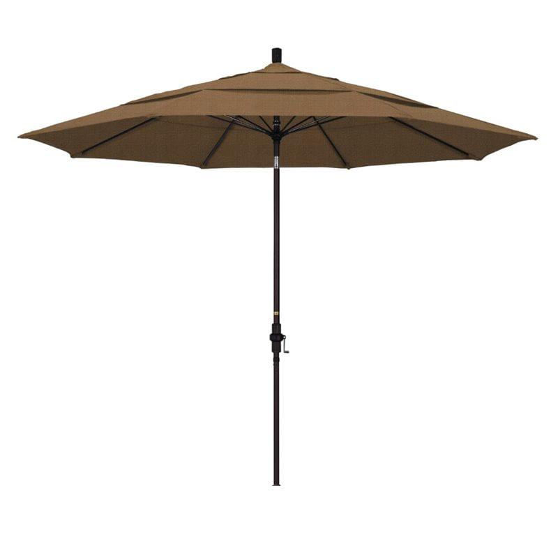 California Umbrella 11 Market Patio Umbrella In Woven Sesame