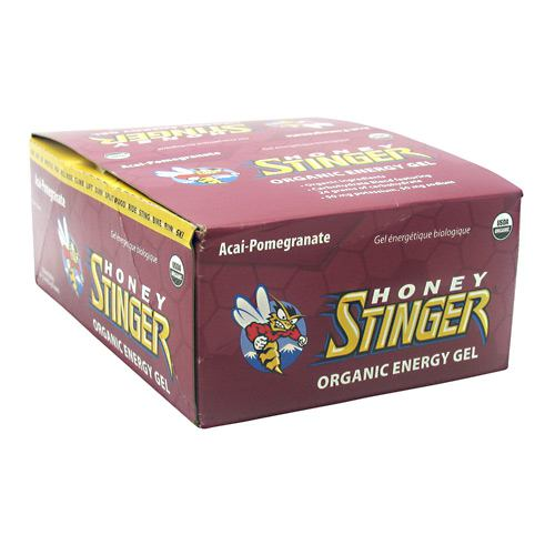Honey Stinger Organic Energy Gel: Acai and Pomegranate, Box of 24