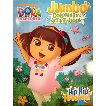 Dora the Explorer Jumbo 30 pg. Coloring and Activity Book - Hip Hip Hooray](Dora The Explorer Coloring Pages Halloween)