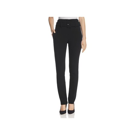 Theory Womens Wool Belted Cigarette Pants Black 8