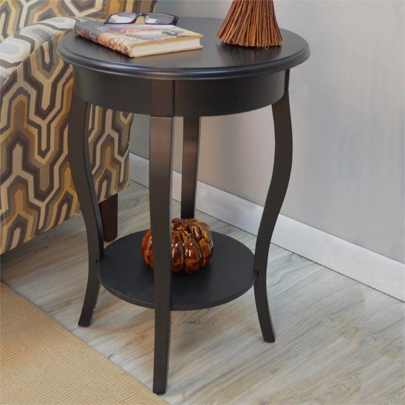 Carolina Classics Lane Accent Table in Antique Black