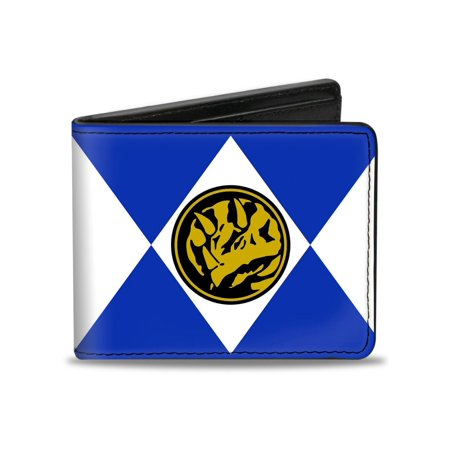 Rangers Live Action Tv Series Blue Ranger Leather Bi Fold Wallet