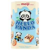 Meiji Hello Panda Cookies Filled with Vanilla Crème, 2.1 oz, 10 pack