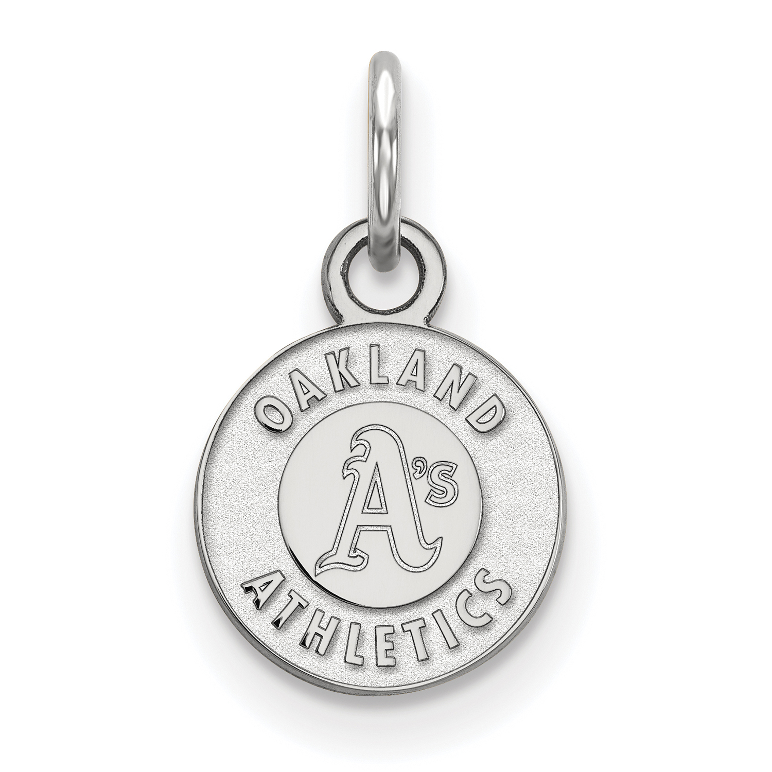 Oakland Athletics Women's Sterling Silver Extra-Small Pendant - No Size