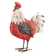 Regal Country Rooster Decor Red/White