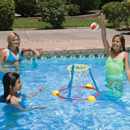 Poolmaster hot hoops floating basketball game for swimming - Basketball goal for swimming pool ...