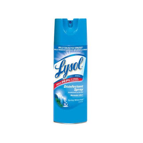 Lysol 12 oz. Aerosol Can Disinfectant Spring Waterfall Spray