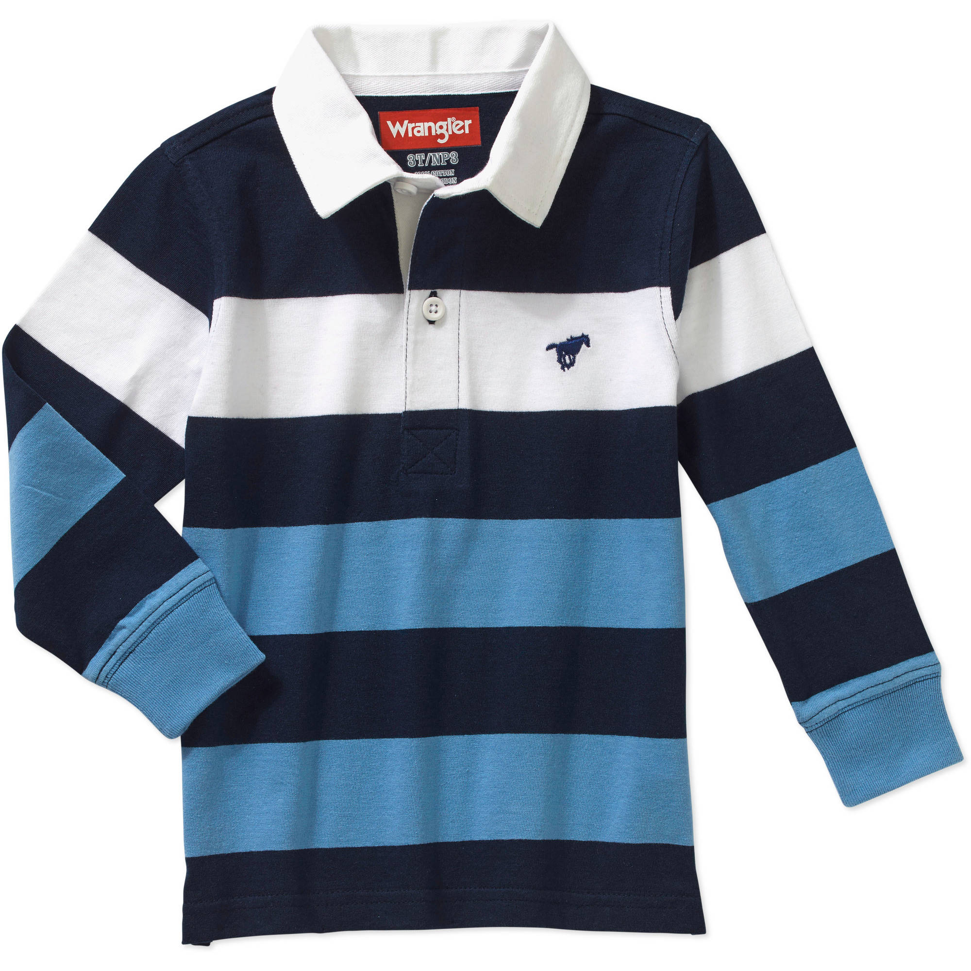 Wrangler Toddler Boys' Hangdown Rugby Polo Shirt