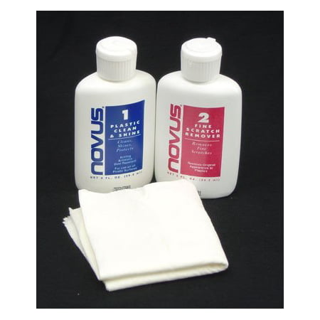 NOVUS Plastic Cleaner and Polish 2-oz Kit #1, #2