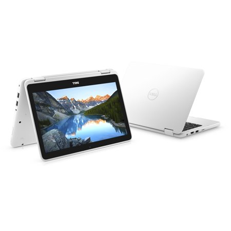 Dell Inspiron 11.6u0022 2-in-1 Laptop AMD A9-9420e 4GB RAM 500GB HDD White - 7th Gen AMD A9-9420e Processor - 4GB DDR4 2400MHz