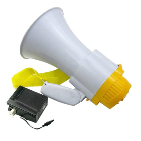 New Professional Plastic Megaphone with Siren PMP30 High Quality Plastic Bullhorn