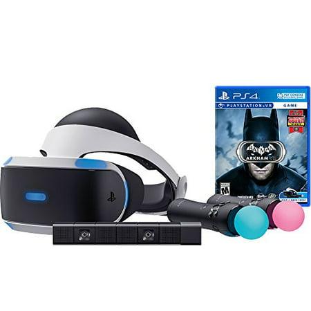 Disco Items (Sony PlayStation VR Batman Starter Bundle 4 items: VR,motion, camera and vr game disc- batman Arkham VR -)