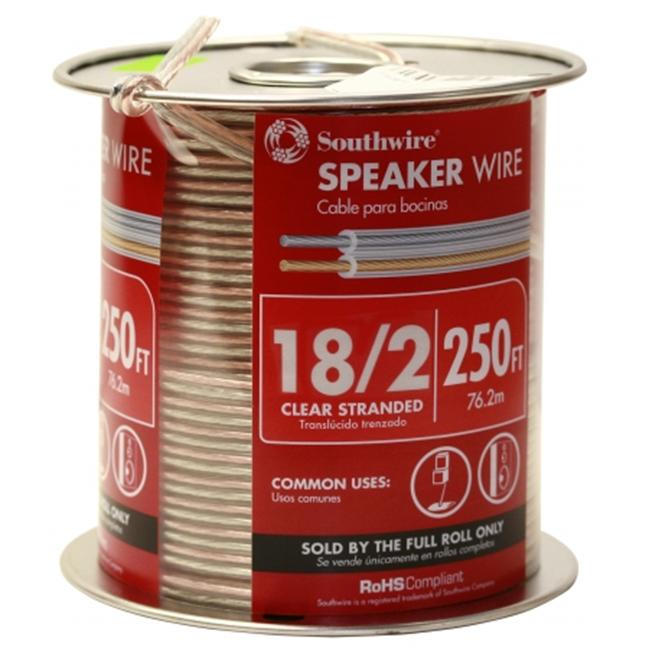 Southwire Company 250ft. 18-2 Clear Speaker Wire  55797744 - Pack of 250