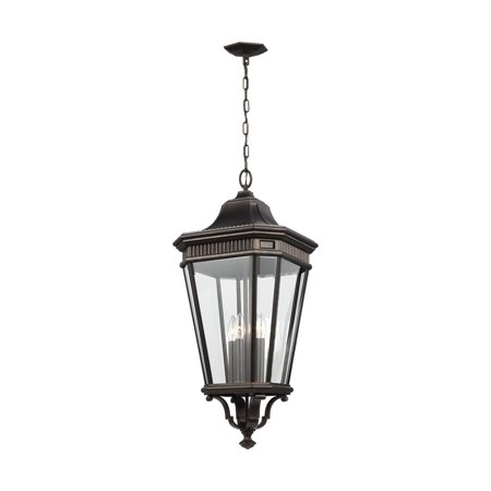 Feiss Cotswold Lane 31 in. OL5414 4 Light Outdoor Hanging Lantern ()