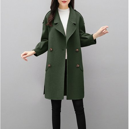 Mosunx Womens Autumn Winter Jacket Casual Outwear Parka Cardigan Slim Coat Overcoat