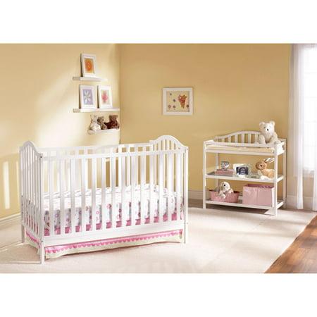 Nursery 101 Cooper 4-in-1 Nursery Furniture Set Classic White