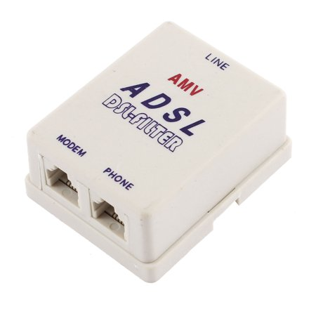 RJ11 Phone Networks Modem Adapter for Connecting ADSL Cable to Telephone Line