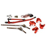 Integy RC Toy Model Hop-ups C24449RED V2 4WS Conversion Kit for Axial 1/10 Wraith