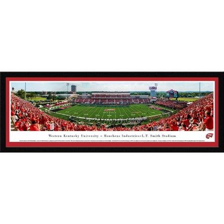 Kentucky Yard - Western Kentucky Football - 50 Yard Line - Blakeway Panoramas College Print with Select Frame and Single Mat