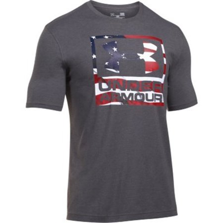98cd7fe6 Under Armour Tactical - UA BFL Tee, Color Carbon Heather/White - Walmart.com
