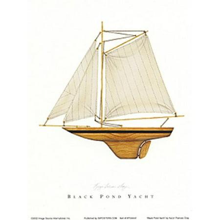 - Black Pond Yacht by Karyn Frances Gray 7x5 (card) Art Print Poster