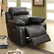 Tribecca Home Eland Black Rocker Recliner Chair by