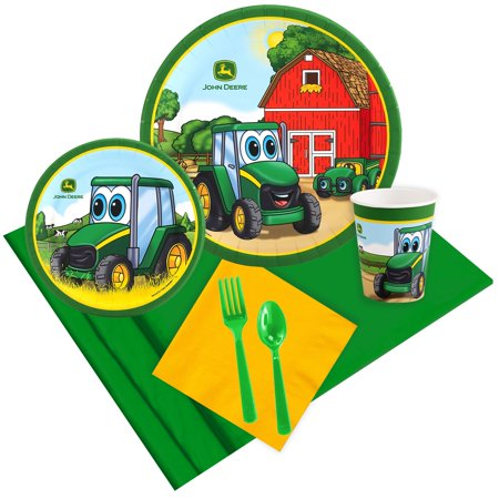 John Deere Johnny Tractor 24 Guest Party Pack - Tractor Birthday Supplies