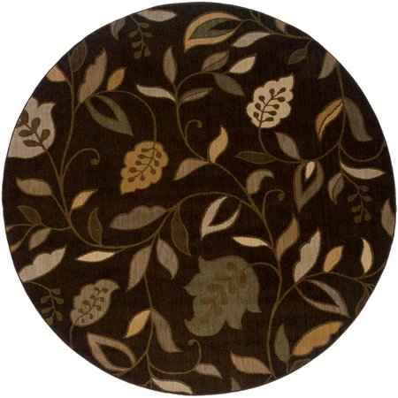 Sphinx Palermo Area Rugs - 2924A Transitional Casual Black Persian Vines Leaves Rug
