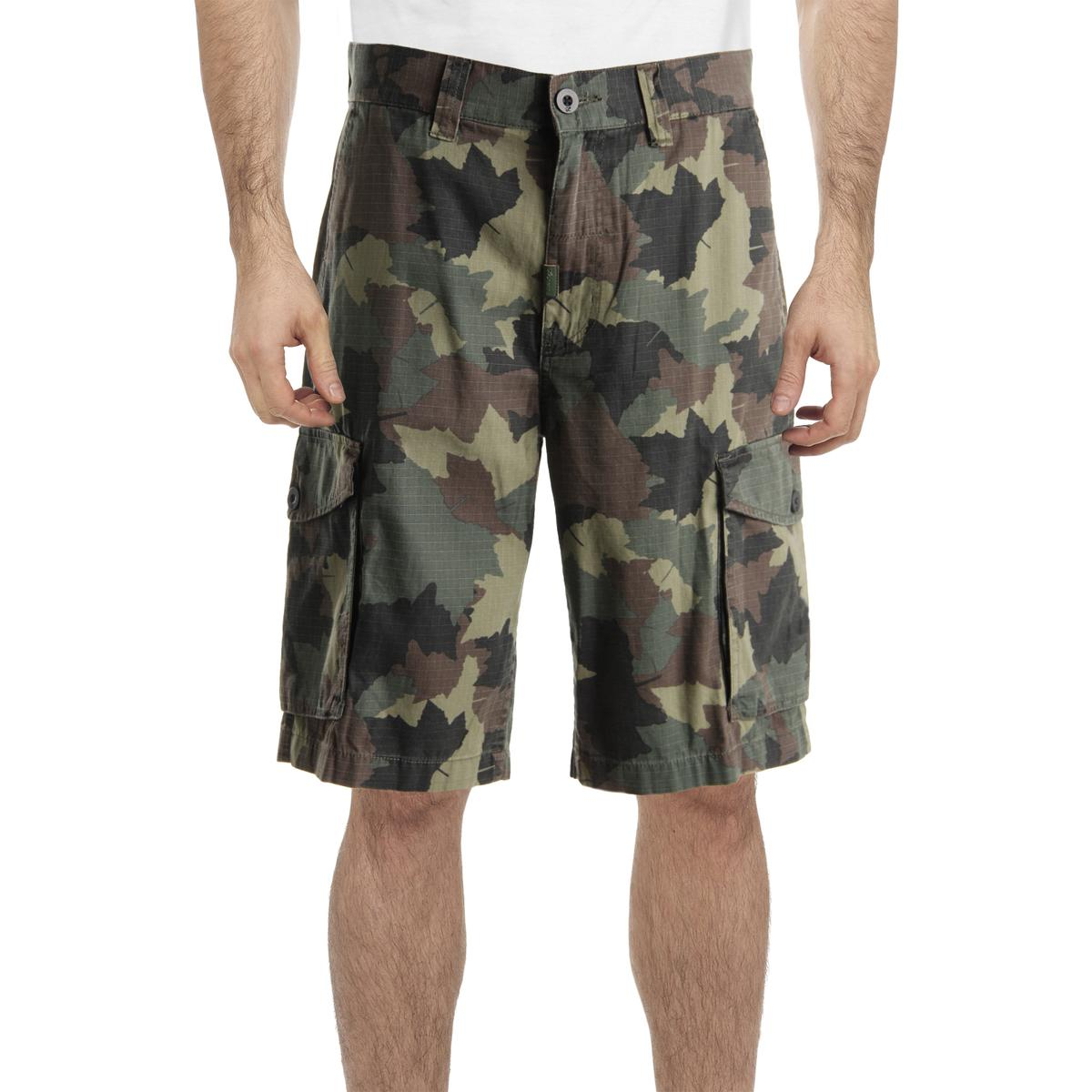 LRG Mens Classic Fit Cotton Cargo Shorts