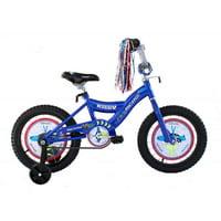 "Micargi 16"" Boy's BMX S-Type Frame Coast Brake One Piece Crank Chrome Rims Black Tire Blue"