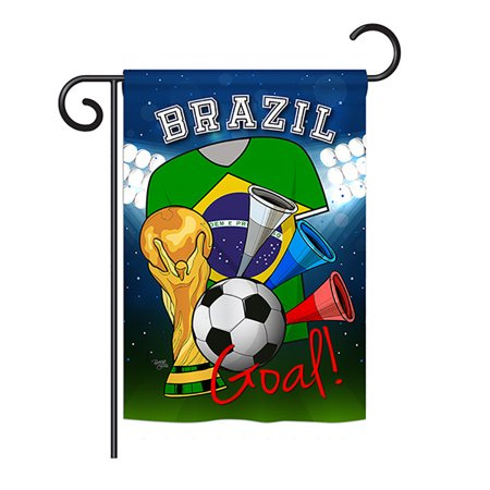 Ornament Collection - World Cup Brazil Soccer Interests - Everyday Sports Impressions Decorative Vertical Garden Flag 13
