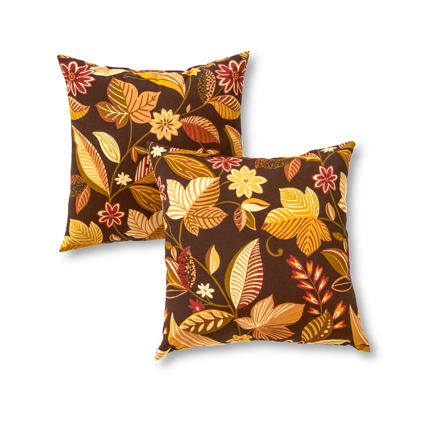 Greendale Home Fashions Timberland Floral Outdoor Accent Pillow, Set of 2