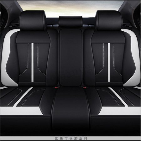 6D Deluxe 5 Seat Car Seat Cover Cushion Front Back Protector Surround Breathable  - image 3 de 5