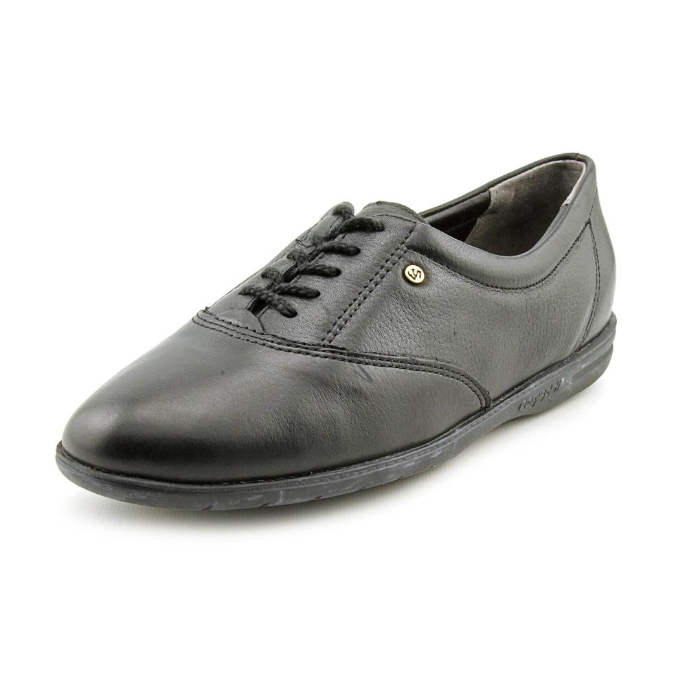 Easy Spirit Motion Women Round Toe Leather Black Sneakers by Easy Spirit