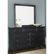 Liberty Furniture Industries Liberty Black 9-drawer Dresser and MIrror Set
