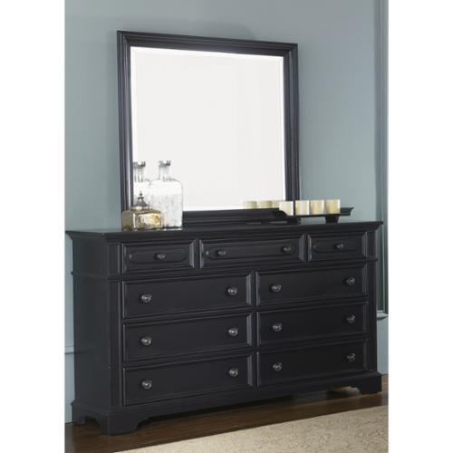 Liberty Furniture Industries Liberty Black 9-drawer Dresser and MIrror Set