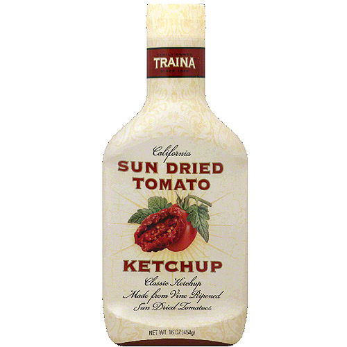 Traina Sun Dried Tomato Ketchup, 16 oz, (Pack of 6)