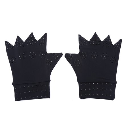 Boyijia Magnetic Arthritis Health Compression Therapy Gloves Women Men Pain Relief Fingerless Gloves - image 1 of 8