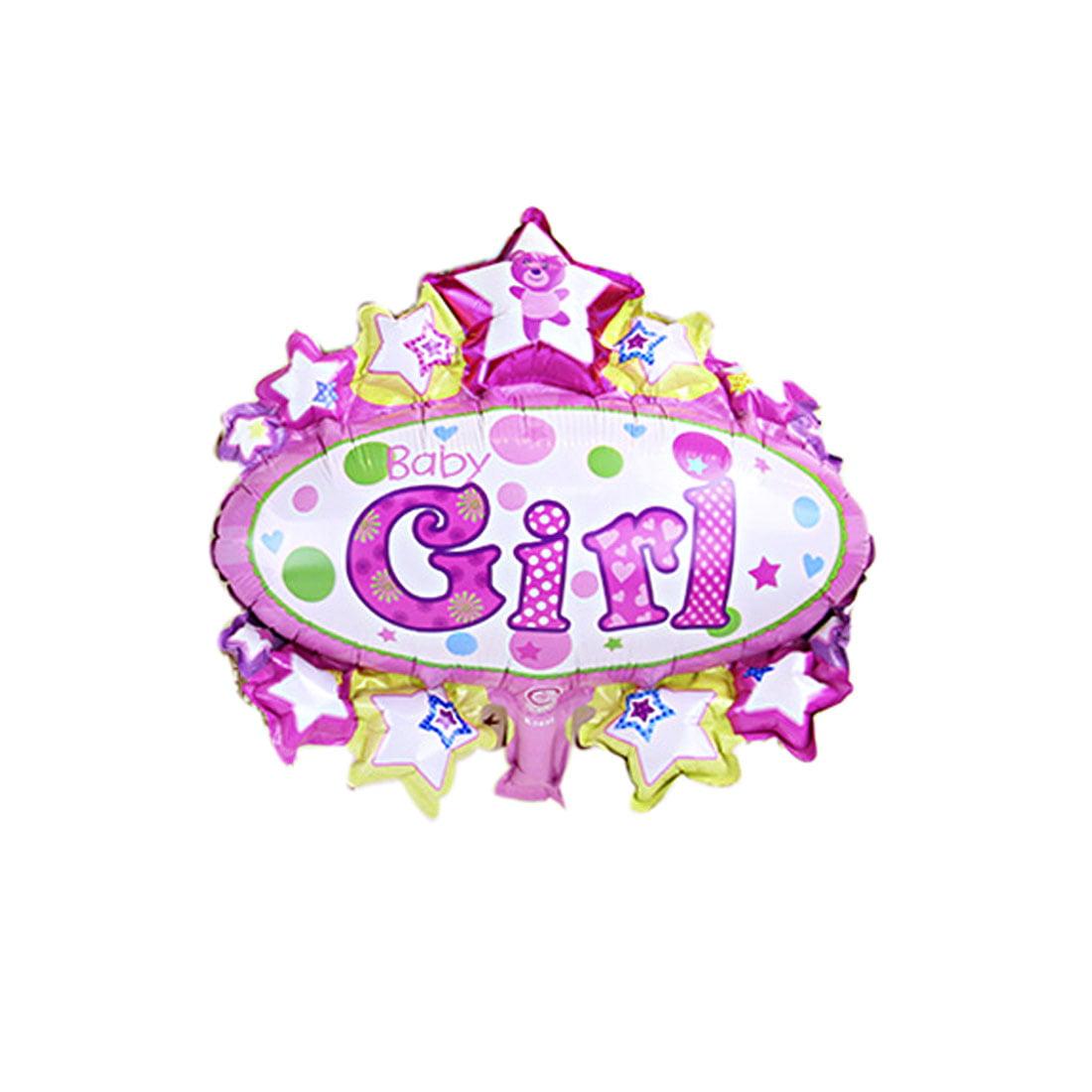 Unique Bargains Home Foil Girl English Letter Print Balloon Birthday ...