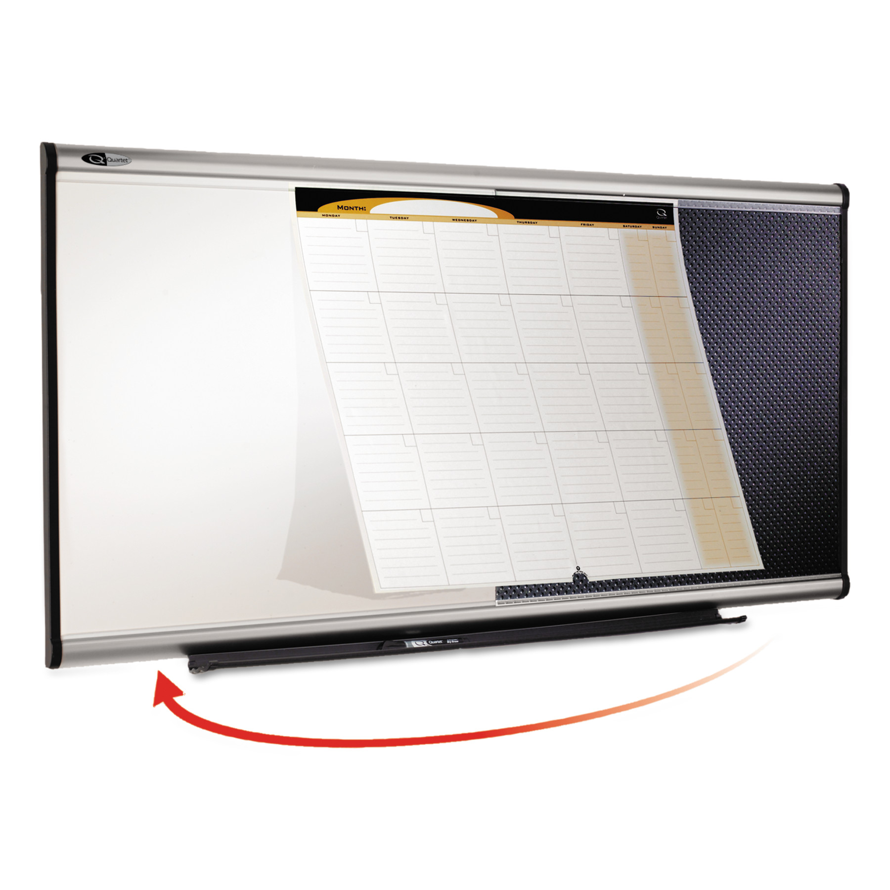 Quartet Prestige Total Erase 3 in 1 Combination Board - 48 x 24 in.